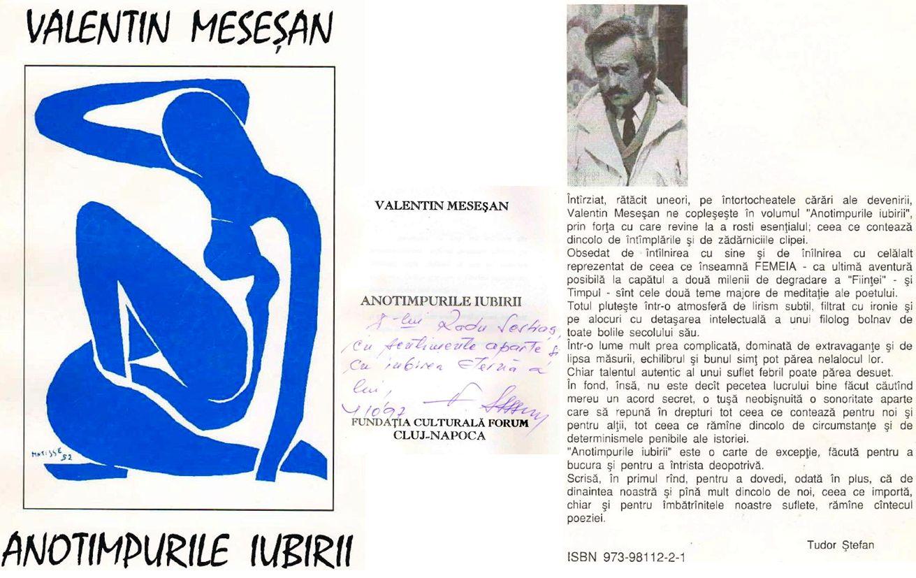 Valentin Mesesan 1997 Sestras vol Anotimpurile iubirii